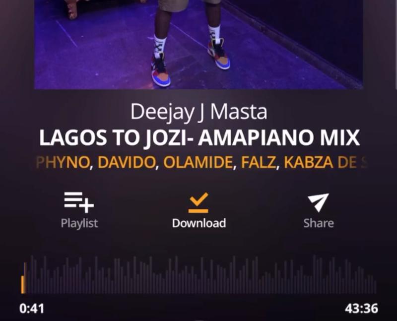 [Mixtape] Deejay J Masta - Amapiano Mix (Lagos To Jozi)
