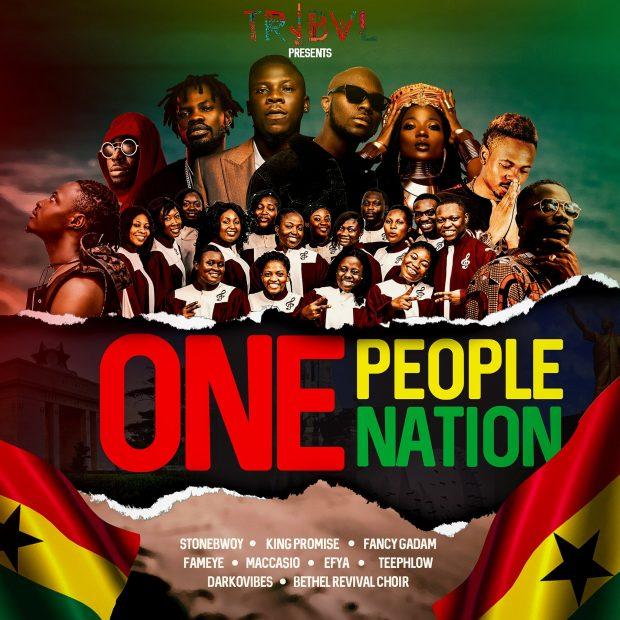StoneBwoy - One People One Nation Ft King Promise & Fameye & Efya & Darkovibes & Fancy Gadam & Teephlow